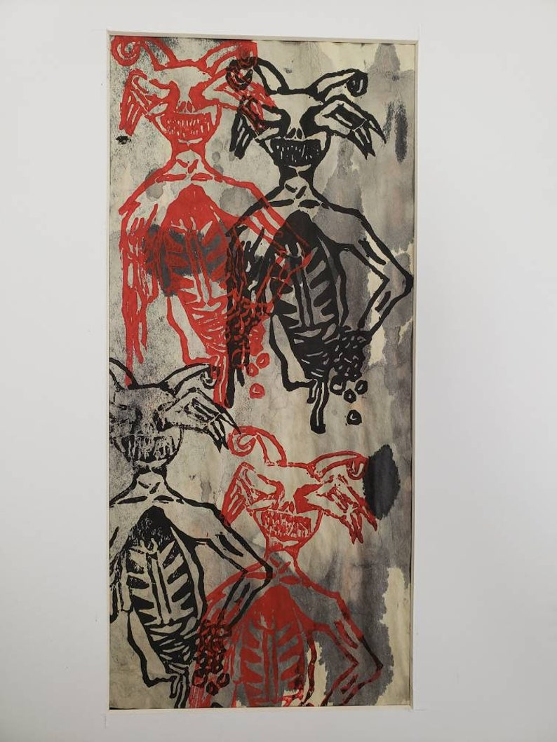 Demon print 8x10