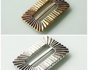 80s XXL Belt Buckle, Gold / Silver, Large Clasp, Vintag Belt, Modern