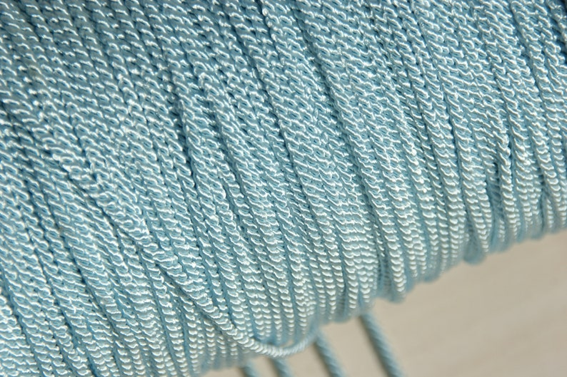 glossy 1.6 mm larp gold artificial silk beige narrow cord light blue drawstring decorative cord gloss cord