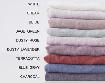 """57"""" / 145 cm Linen Fabric By Meter Organic Stonewashed Linen Fabric For Sewing"""