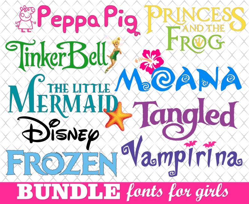 Download Cricut font bundle Kids font svg Disney font svg Cricut ...