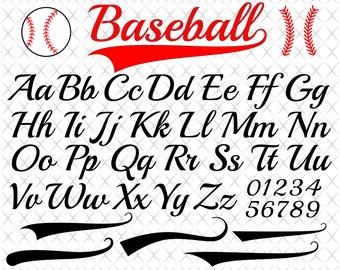 baseball font svg