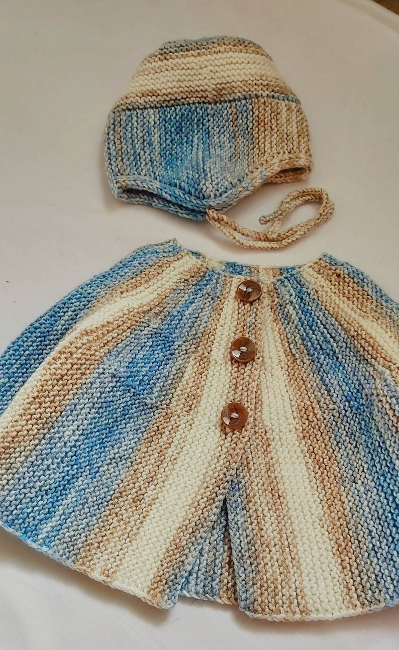 Baby boy knitted set Jacket and bonnet baby boy set Infant clothes