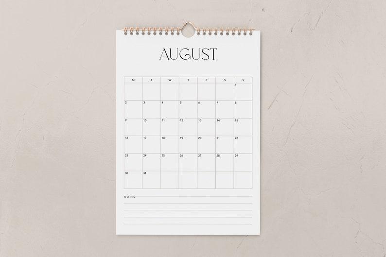 Printable 2021 Wall Calendar Minimal White Black Modern | Etsy