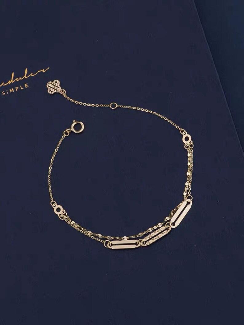 14k gold bracelet.