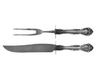 Gorham Plain Engraved C by Gorham Sterling Silver Steak Carving Set 3pc 9 34