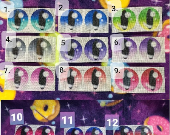 Gradient Buckram Mesh Eyes Reptile Pupil Style #1-27  with Black Backing for Furry Fursuit Animal Mascot Costumes or Cosplay Masks and Heads