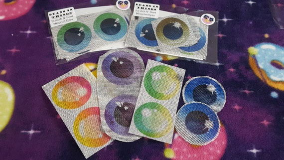 Discount 3-Pack Mystery Grab Bag of Misprint, Mismatched & Flawed Mesh Eyes for Furry Fursuit Animal Mascot Costumes or Cosplay Masks, Heads