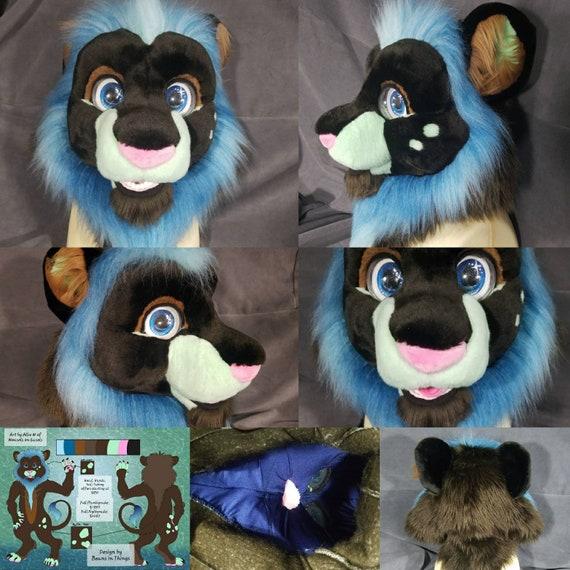Custom Made to Order Furry Animal Cosplay Fursuit Mascot Costume Head
