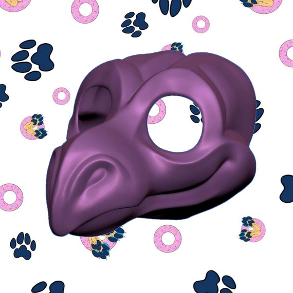 DOWNLOAD - 3D Print STL File -  Dragon v2 Fursuit Furry Scaley Cosplay Hollow Head Base Model for Personal Use Home 3 Dimensional Printers