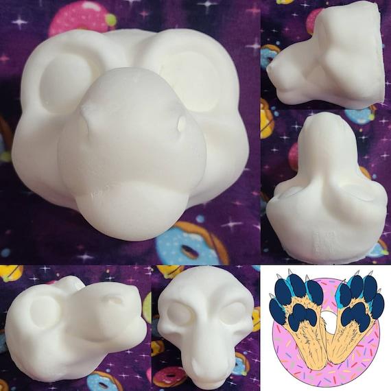 Dragon Fursuit Cosplay Costume Head Base in Cast Foam for DIY Dutch Angel Dragon Toony Reptile Cartoon DIY Face Mask Headdress Hat Projects