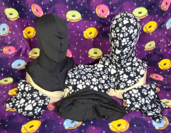 Two Sided Quilted Inner Liner For Mascot Cosplay and Furry Fursuit Heads one size fits most, stretch to fit made from lycra and fleece