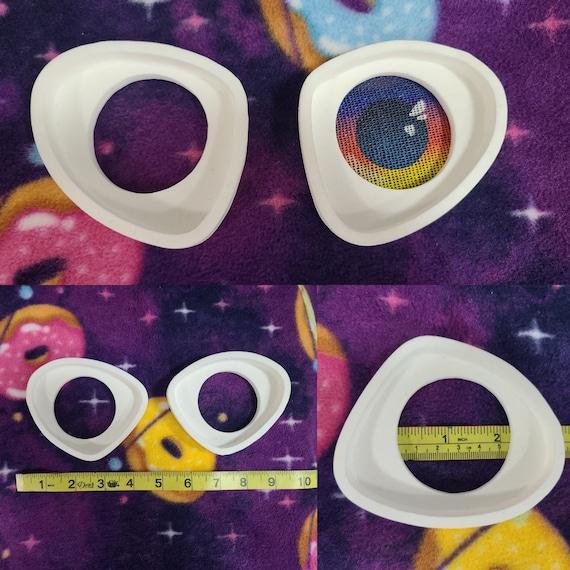 Resin Eye Frames for Buckram or Vinyl Plastic Mesh Furry Fursuit Head Cosplay Mascot Costume Eyes