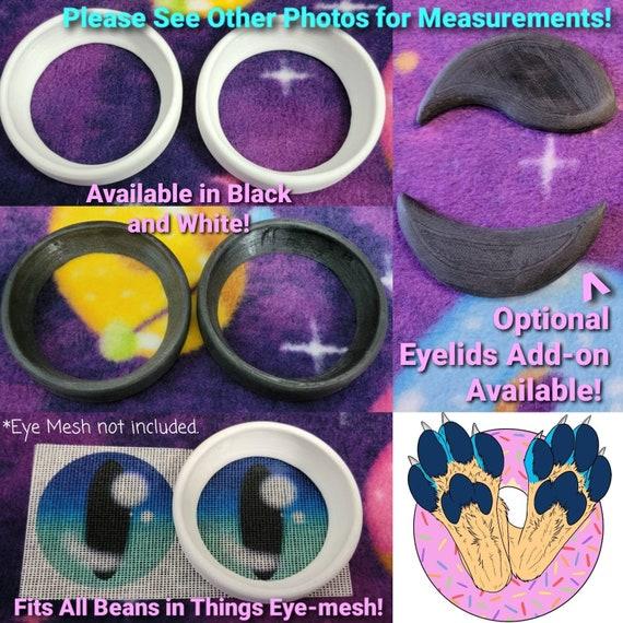 Resin Eye Frames for Buckram, Vinyl or Plastic Mesh Furry Fursuit Head Cosplay Mascot Costume Eyes