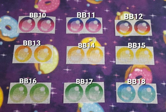 Gradient Buckram Mesh Eyes #10-18 Bubble Blind Pupil Style with Black Backing Furry Fursuit Animal Mascot Costumes or Cosplay Masks Heads