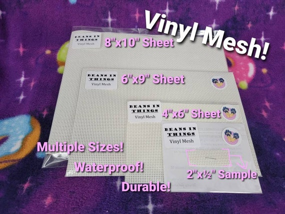 Vinyl Mesh Fabric for Making See Through Eyes or Hidden Eye Holes in Masks and Fursuit Heads Full Sheets and Sample Sized