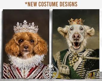Custom Pet Portrait, Royal Pet Portrait, Christmas Gift Pet Regal, Dog Portrait, Pet Loss Gift, Last Minute Gift, King Queen Pet Cat Art