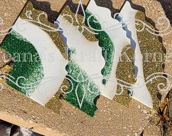 Custom Ceramic and Resin Coaster Sets