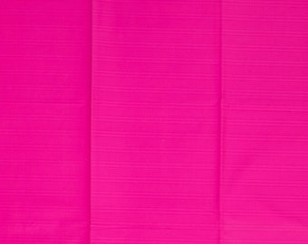 Pink solid cotton fabric for sewing lover by half yard, bubblegum pink plain VLISCO fabric cotton for dressmaker, dark pink uni color fabric