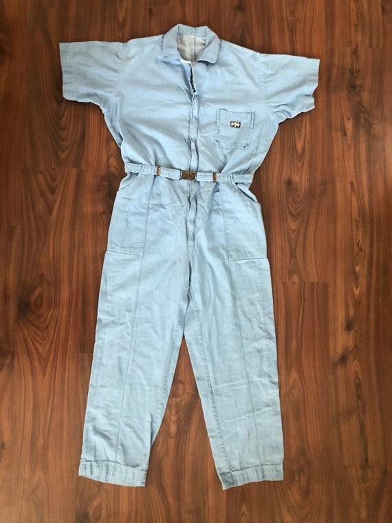 Vintage 50s/60s light work jumpsuit size medium ru