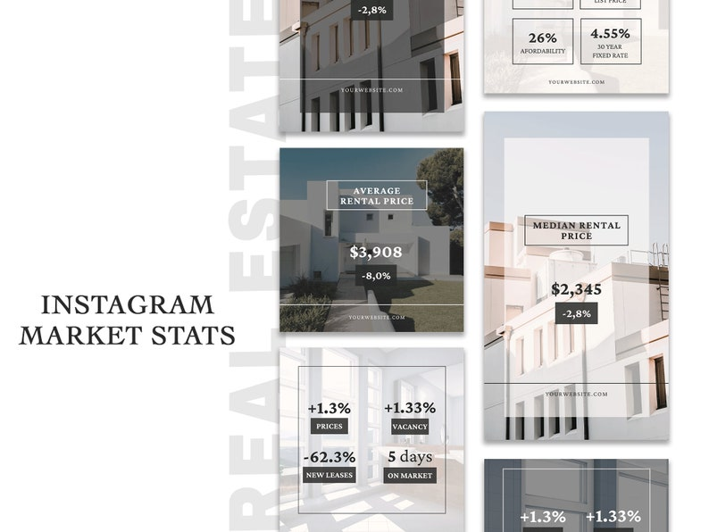 Real Estate Market Stats for Instagram Story and Post  image 0