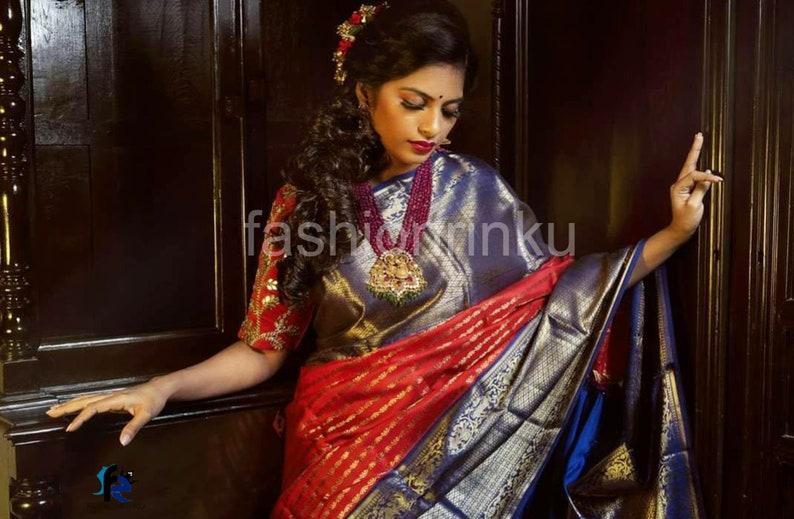 Indian Saree For Women Banarasi Soft Silk Saree Womens gift Wedding Saree Exclusive Party Wear Traditional Designer Bridal Saree Sari