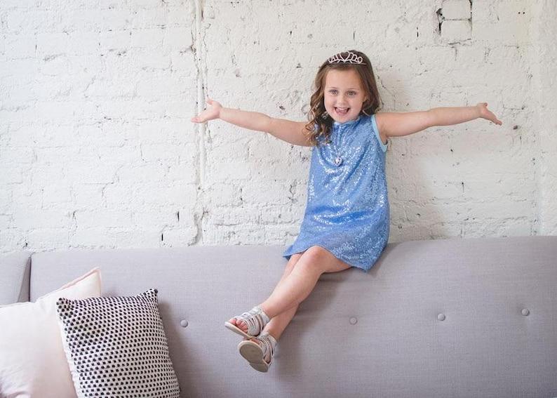 Funkeln Prinzessin Kleid Blaue Pailletten Partykleid für ...