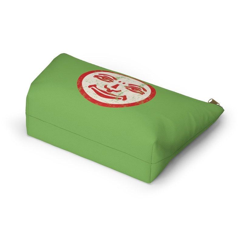 Rummikub Travel Pouch Light Green Retro Rummikub Joker Face Grunge Effect Tile Bag Tra Storage Bag for Rummikub Tiles
