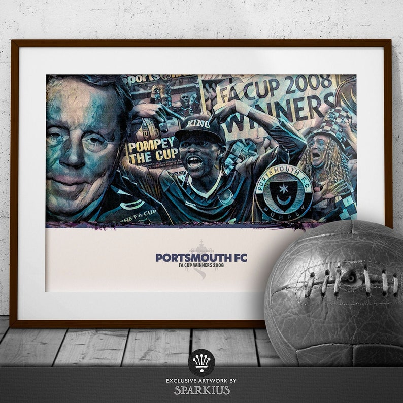 Portsmouth FC  FA Cup 2008  Art Print image 0