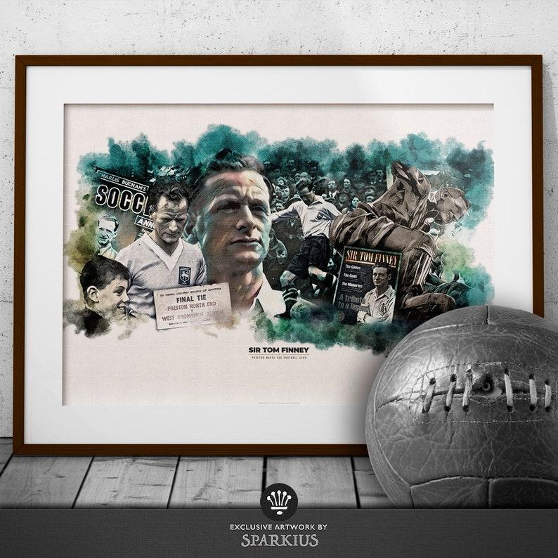Tom Finney  Preston North End FC  Art Print image 0