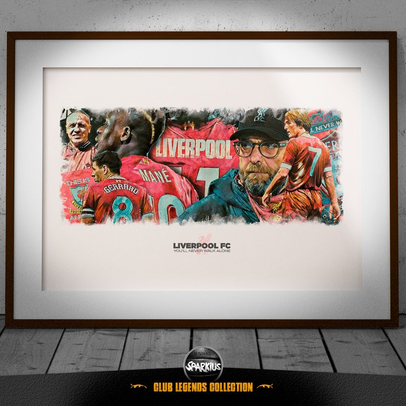 Liverpool FC  You'll Never Walk Alone  Art Print image 0