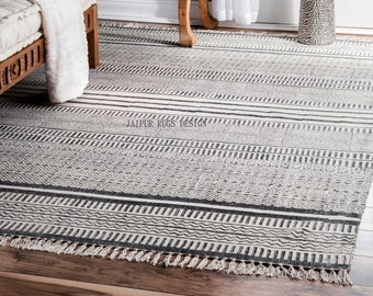 5X8 FEET Cotton rug / block printed rug / carpet, area rug 60X96 INCHES / 150X240 CMS