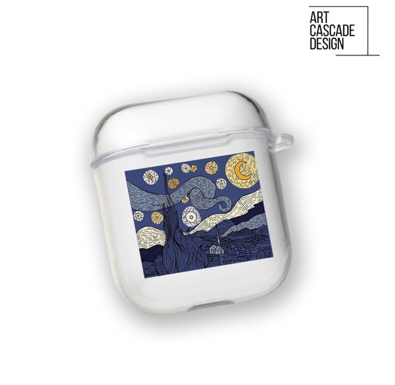 Starry Night Airpod Case Painting Airpods Pro Case Clear Van Etsy