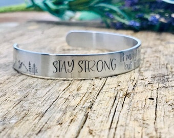 encouragement gift CLEARANCE SALE Stay strong bracelet be brave jewelry