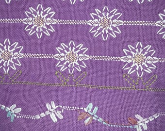 Daisy's and Dragonflies swedish weave pattern