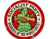 """3"""" Socialist Party Sticker, no white border 