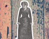 Angry Agnes | Large Victorian Mood Lady Vinyl Sticker | Retro Angry Woman, Anger, Mad, Reaction Mood Emotion for Car Laptop Water Bottle Etc
