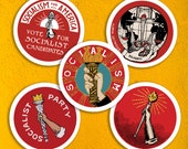 Socialist Torch Sticker Set |  Retro Socialism Party, Solidarity, Socialism for America, Leftist Vinyl Stickers