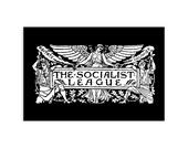 The Socialist League 4x6 Postcard | Agitate, Educate, Organize! Victorian Socialism Leftist Progressive Anti-Capitalist Flat Card