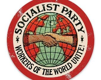 6 Socialist Stickers Variety Set Vinyl Retro Socialism Socialist Capital /& Labor
