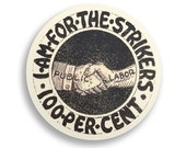 """Strike Support  2.25"""" Round Pinback Button 