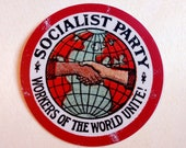 "3"" Socialist Party Sticker, no white border 
