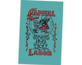 """Capital and Labor 4x6"""" Postcard Edwardian Socialism, Communist, Socialist 