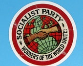 Large Socialist Party Sticker | Workers of the World Unite! | Retro Socialism for Laptop Water Bottle Etc, Small Gift