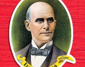 Eugene V. Debs For President Kiss-Cut Large Sticker | Socialist Party | Retro 1904 Socialism, Small Gift