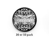 """Pack of 20 or 50 Socialist League 1.25"""" Pinback Buttons   Retro Anti-Capitalist Round Badges Leftist Pins Victorian Socialism"""