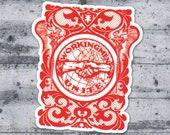 Workingmen Unite! 3 Inch Vinyl Sticker | Retro Edwardian Socialist Decal Leftist Anti-Capitalist Pro Worker Union Socialism Worker's Rights