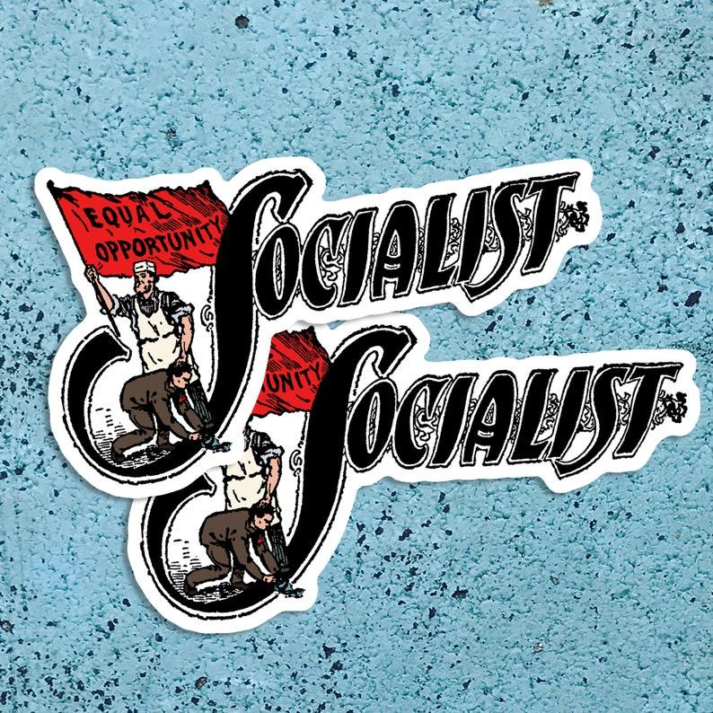 Set Two Socialist Large Vinyl Stickers  Edwardian Socialism  image 0