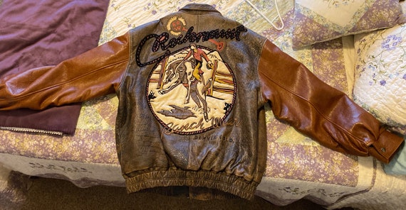 Vintage Rockmount Western Wear leather western jac