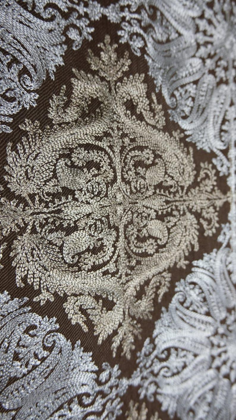 Fine Embroidery Scarves Hijab Perfect Gift Scarf Pashmina Kashmiri Shawl Winter Special Festive Season Warm Stole